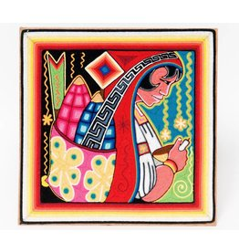 Yarn Painting by Neikame (Huichol).