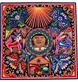 "24"" Yarn Painting by Eliseo Castro (Huichol)."