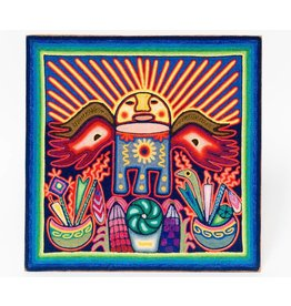 Yarn Painting by Eliseo Castro (Huichol).