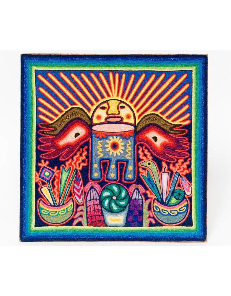 Yarn Painting by Eliseo Castro (Huichol).