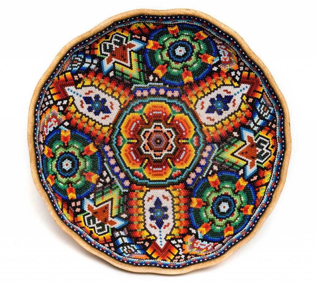 Gourd Bowl Beaded by Juan Villa (Huichol).