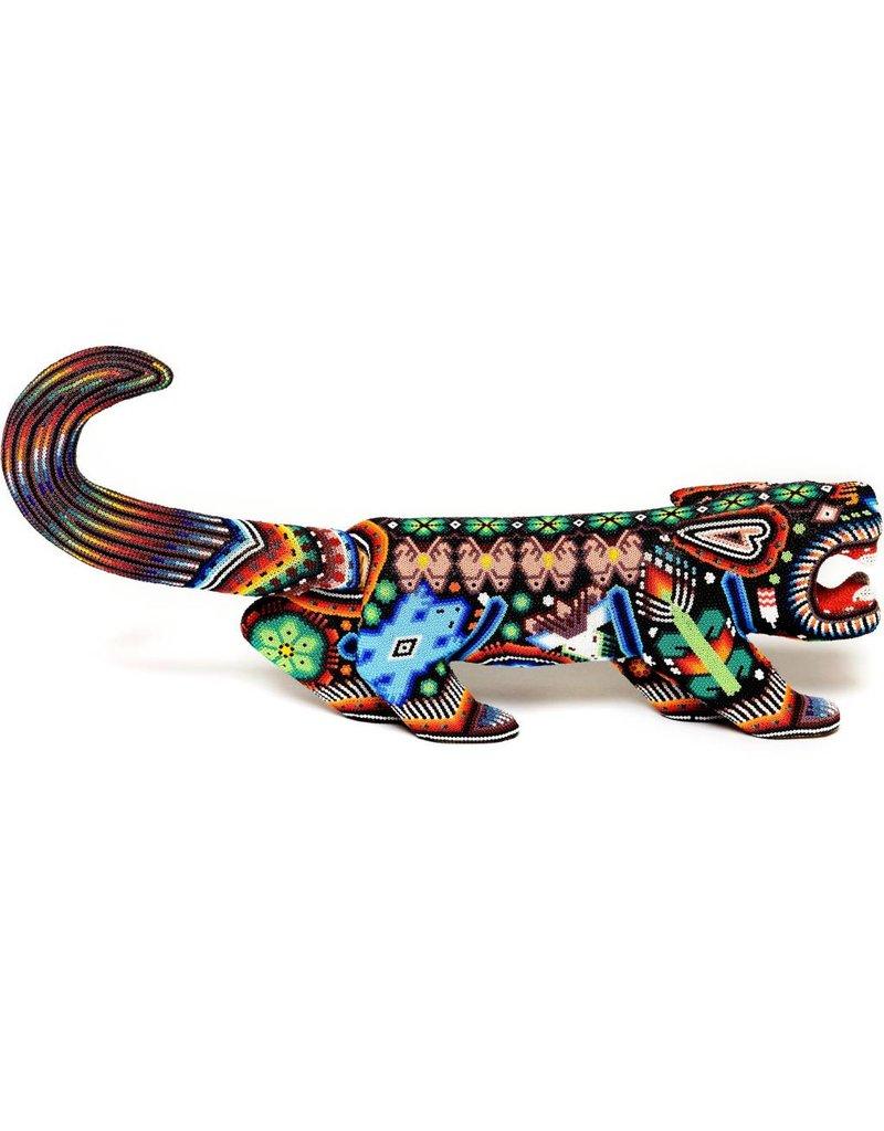Jaguar Beaded by Julian Bautista (Huichol).