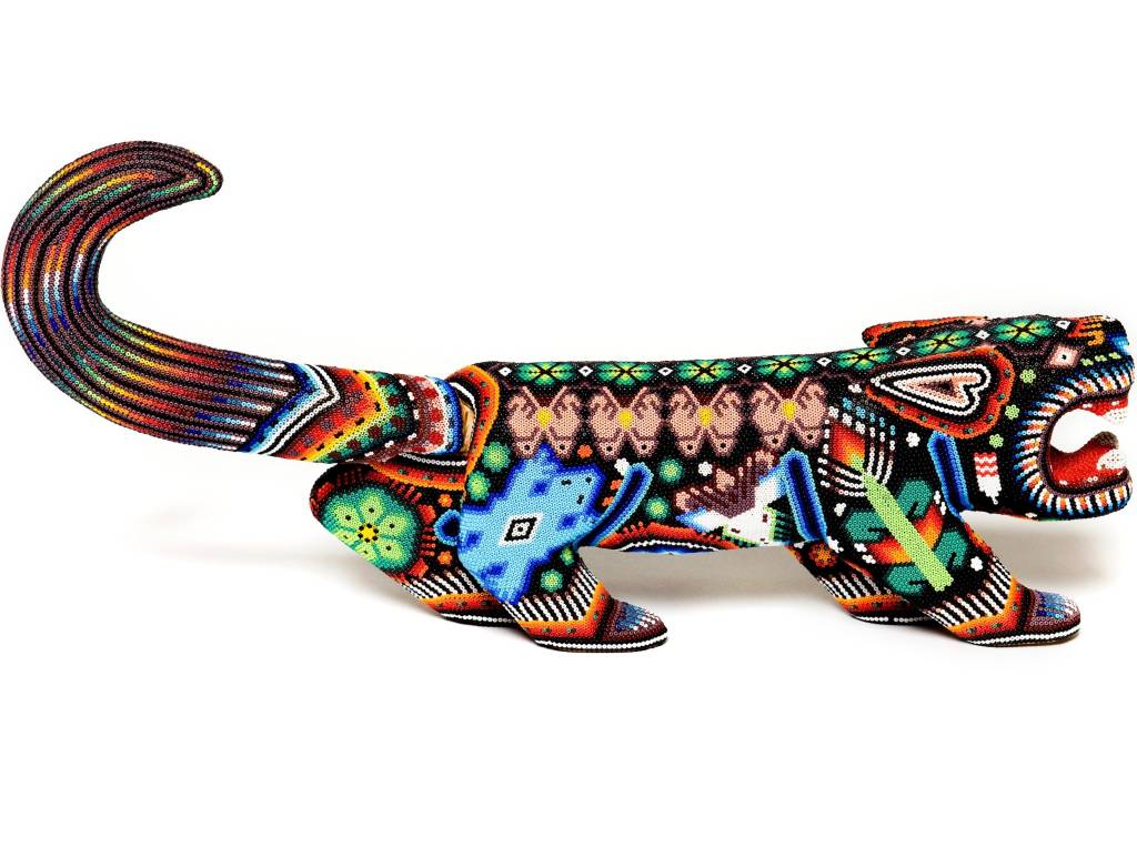 Jaguar Beaded by Julian Bautista (Huichol).
