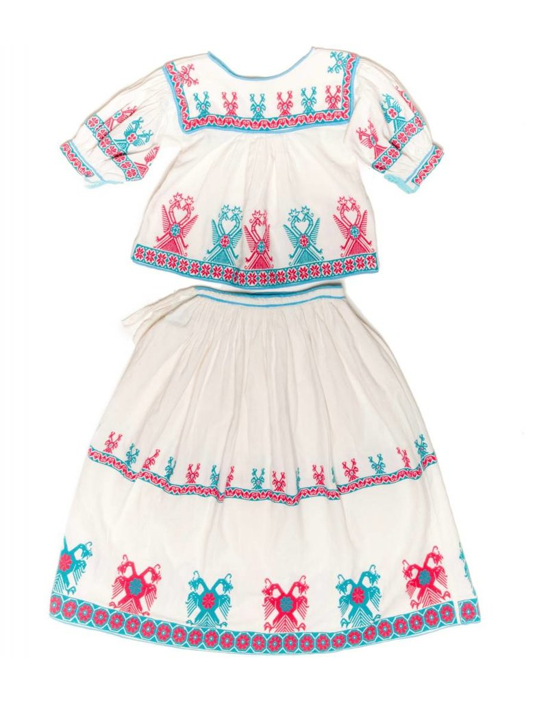 Embroiderd Skirt and Top (Huichol).