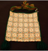 "Medicine (Peyote) Bag 11"" by 10"" by Francisco and Velina Hernandez (Huichol)."