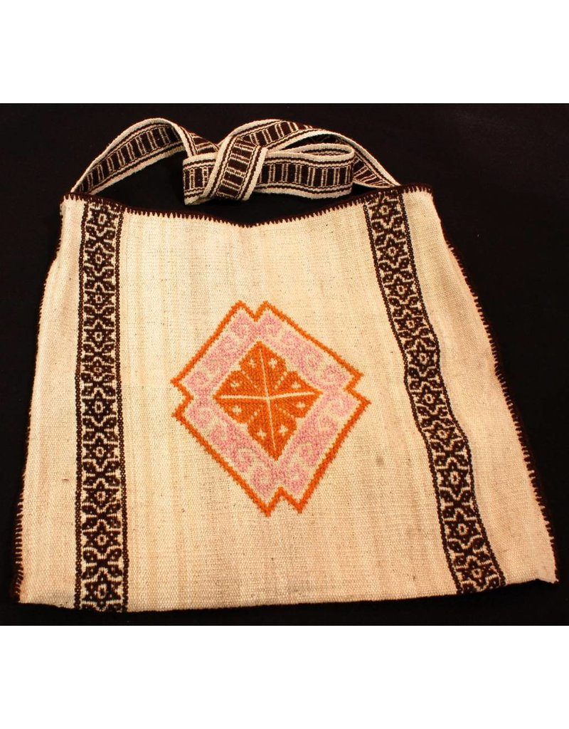 "Medicine (Peyote) Bag 14"" by 14"" by Francisco and Velina Hernandez (Huichol)."