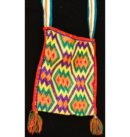 "Medicine (Peyote) Bag 7"" by 8"" by Francisco and Velina Hernandez (Huichol)."
