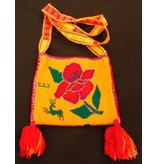 "Medicine (Peyote) Bag 7"" by 6.5"" by Francisco and Velina Hernandez (Huichol)."