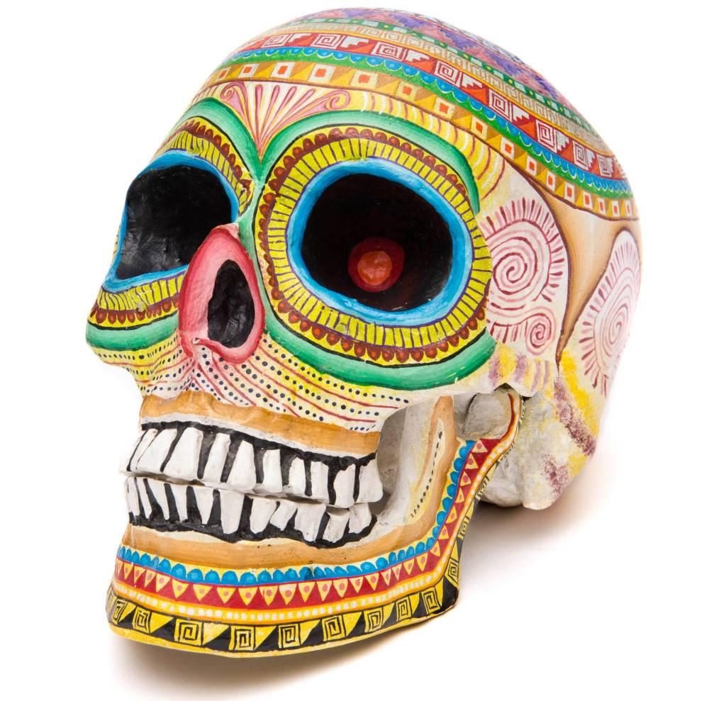 Oaxacan Hand Painted Skulls (Zapotec).