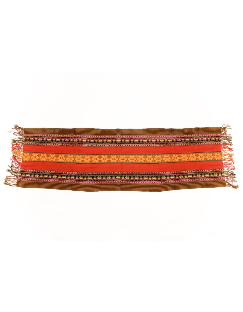 "Inca Hand Loomed Shawl 94"" by 18"""