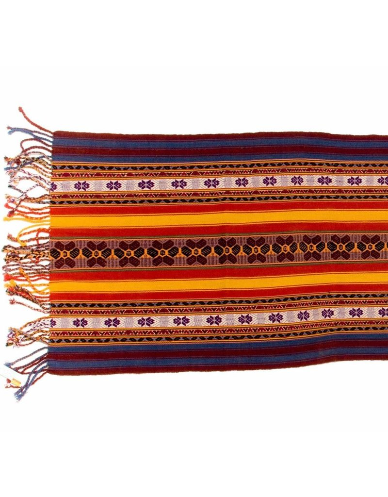 "Inca Hand Loomed Shawl 69"" by 19"""