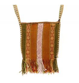 Inca Hand Sewn Shoulder Bag from Hand Loomed Cloth