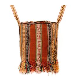 Inca Hand Sewn Shoulder Bag from Hand Loomed Cloth - 16x12