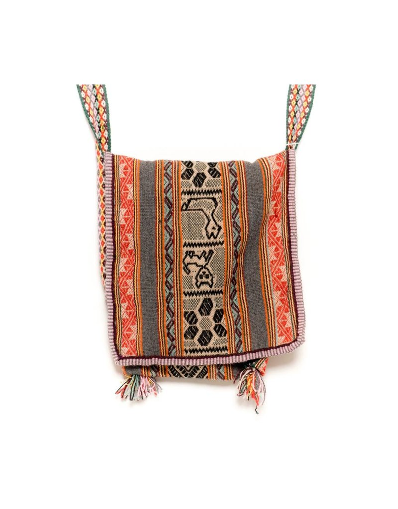 """Inca Hand Sewn Shoulder Bag from Hand Loomed Cloth - 15"""" by 13"""""""
