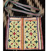 """12"""" by 12"""" Medicine Bag by Elisa Vargas (Shipibo)."""