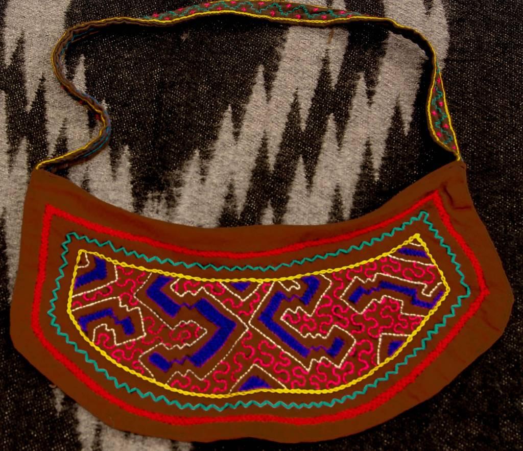 """14"""" by 7"""" Medicine Bag by Elisa Vargas (Shipibo)."""