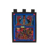 Wall Hanging constructed from 2 Molas (Kuna).