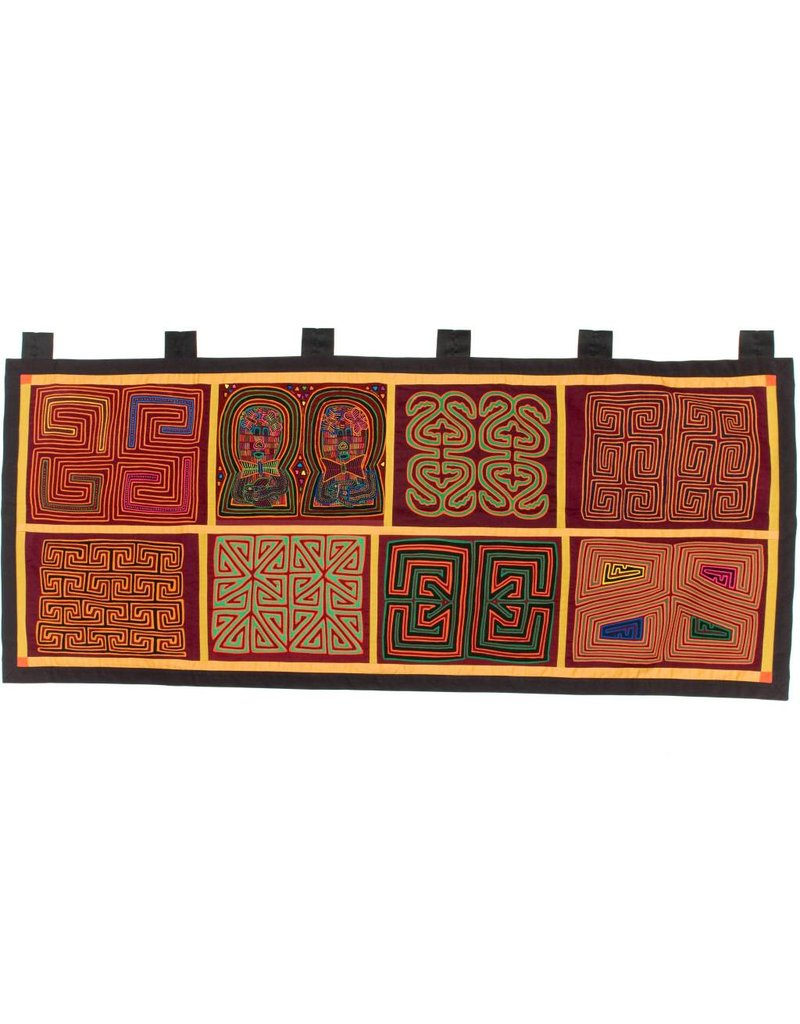 Wall Hanging constructed from 8 Molas (Kuna). *online
