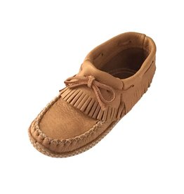 Fringed Moosehide Ankle Moccasin