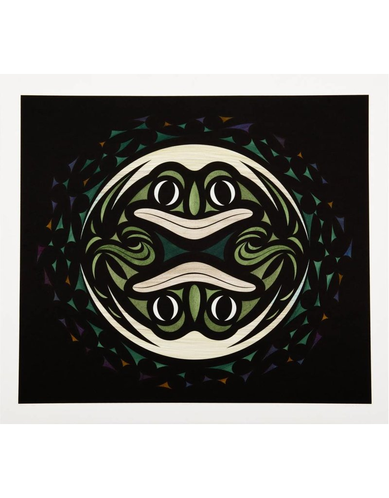 'Genesis' - Print by Susan Point (Musqueam/Coast Salish).