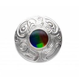 Silver & Iniskim Eagle Bear Pendant by Matilpi Designs.