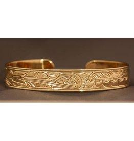 "14 Kt Gold Hummingbird Bracelet - 1/4"""