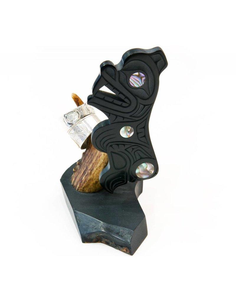 Argillite Ring Holder by Calvin Bell.