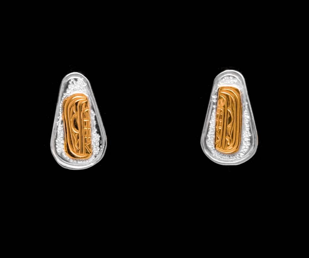 Gold / Silver Studs by Victoria Harper