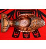 tsaw Stained Halibut Bowl by Will Wadhams (Kwakwakawakw).