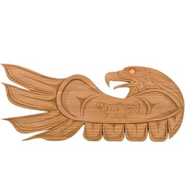 Eagle Plaque by Chris Sparrow (Musqueam / Coast Salish).