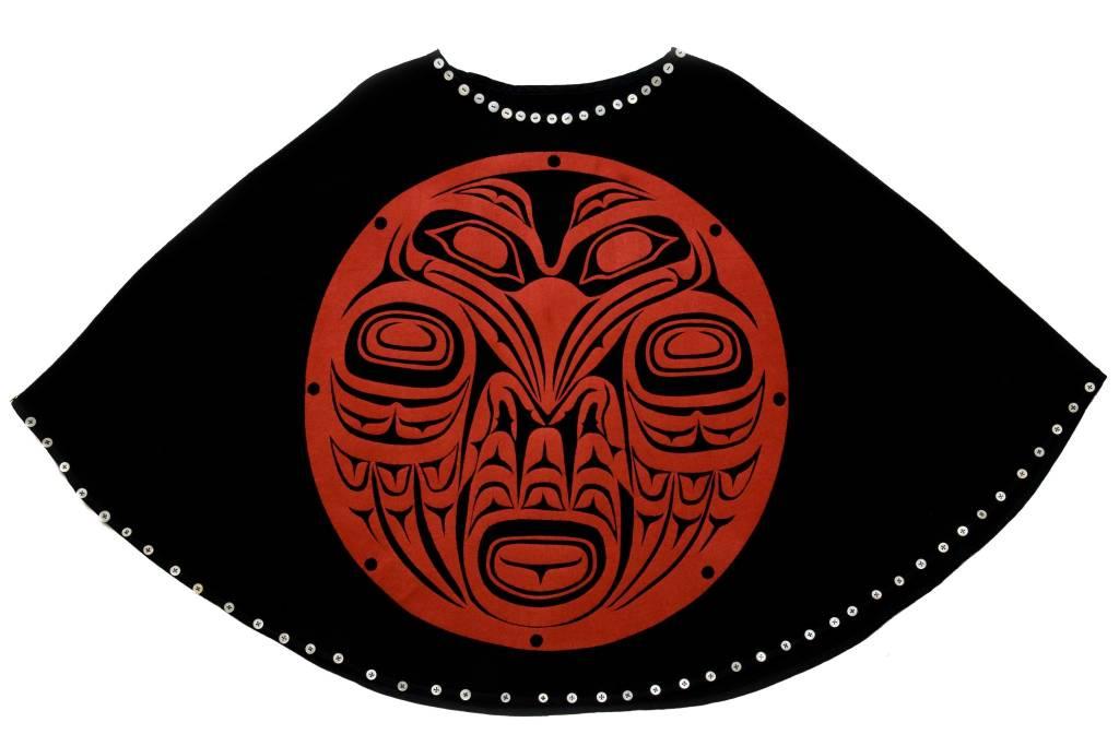 Raven Cape by Leona Edinshaw (Haida).