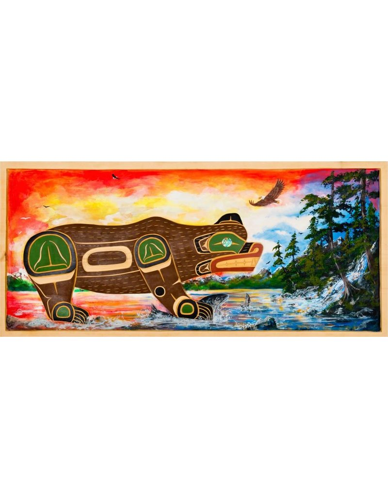 'Fishing Bear' Wall Panel by John Spence (Squamish, Coast Salish).
