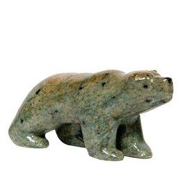 "5"" Soapstone Bear by Gilbert Daniels (Dene)."