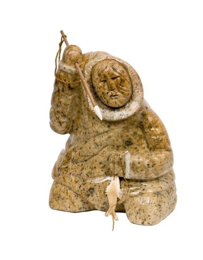 Soapstone Inuit Hunter carved by Gilbert Daniels (Dene)
