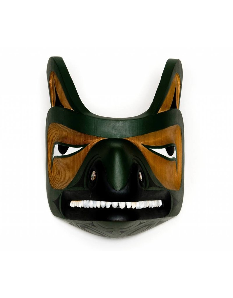 Wolf Mask by Leslie Wells (Semiahmoo, Coast Salish).