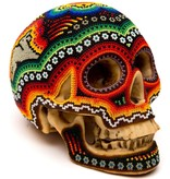 Beaded Ceramic Human Skulls (Huichol).