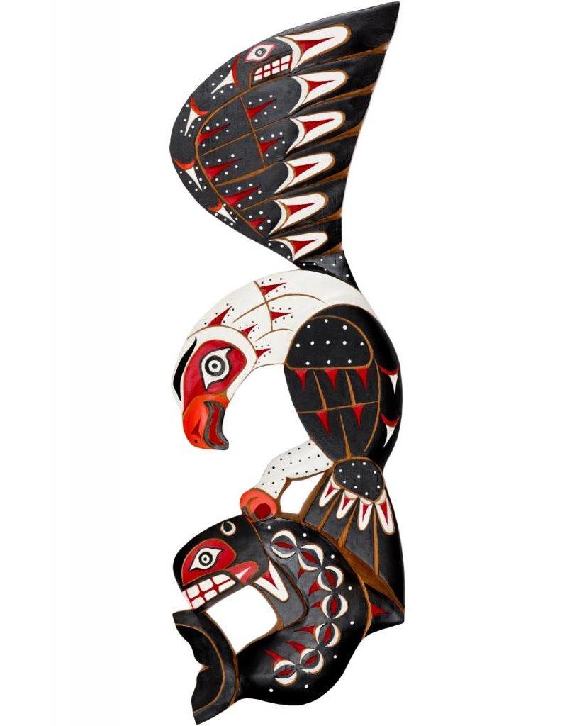 Thunderbird and Killer Whale carving by William Good (Nanaimo / Coast Salish).
