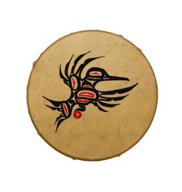 Hand Drum Painted with Hummingbird Design by Keith Morgan