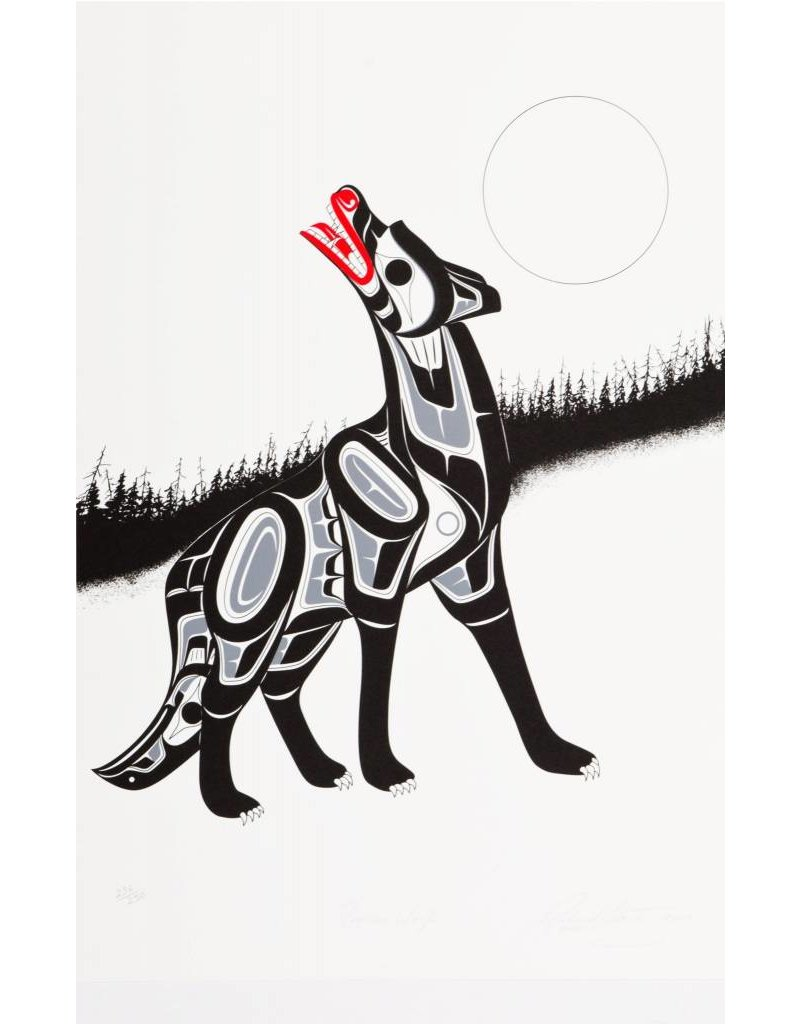 'Timber Wolf' Print by Richard Shorty (Northern Tutchone).
