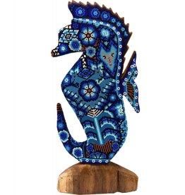 Largel Beaded Seahorse by Juan Villa Lopez (Huichol)