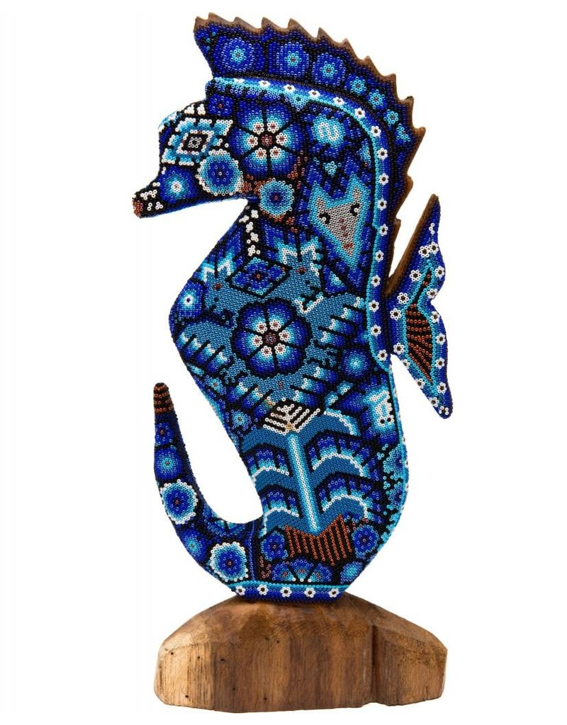 Largel Beaded Seahorse by Juan Villa Lopez (Huichol)