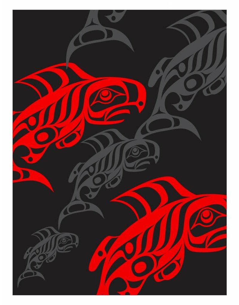 'Taku Red' print by Alano Edzerza (Tahltan)