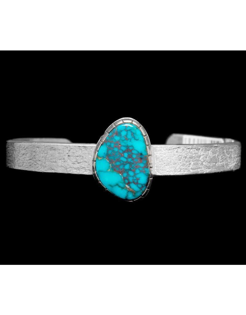 """3/8"""" Tufa Casted Turquoise Bracelet by Terrance Campbell"""