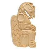 Beaver Plaque carved by Doran Lewis (Coast Salish).