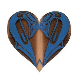 Double Swan Heart Carving by Curtis Joe (Coast Salish).