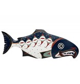 Chum Salmon Plaque by William Good (Nanaimo / Coast Salish).