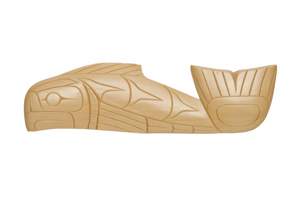 Salmon Plaque by Doran Lewis (Coast Salish).