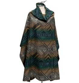 Tumbling Gems Funnel Kneck Poncho by Pendleton