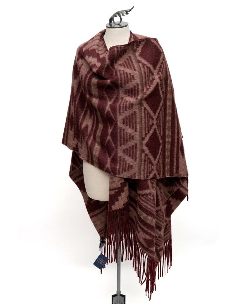Cedar Mountain Woven Wool Blanket Shawl by Pendleton