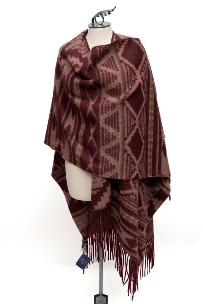 Cedar Mountain Woven Wool Blanket Shawl by Pendleton